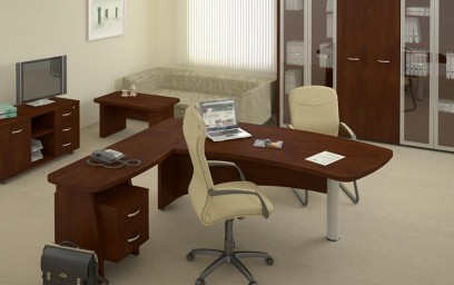 Изящность, которая создается визуальным делением мебели на столешницу и опоры.