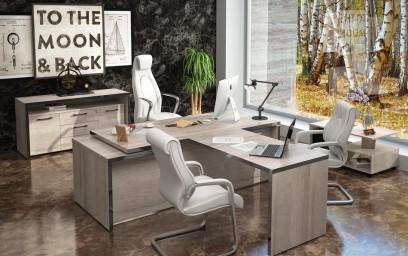 Компактность и функциональность мебели позволяют даже небольшое по площади помещение превратить в уютный, удобный и современный кабинет руководителя.