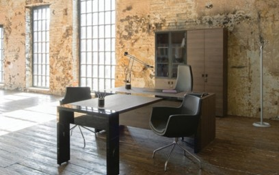 Сочетание современных материалов и цветов натуральных пород дерева добавят неповторимый внешний вид вашему офису