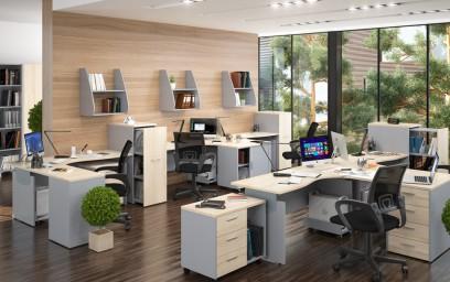 Своим респектабельным внешним видом эта офисная мебель обязана современному стильному дизайну и уникальному цветовому решению.