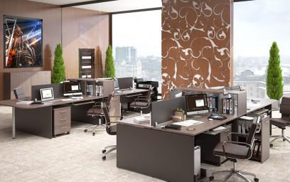 Несмотря на кажущуюся воздушность, мебель для офиса «X-Ten» изготовлена с претензией на солидность и надежность.